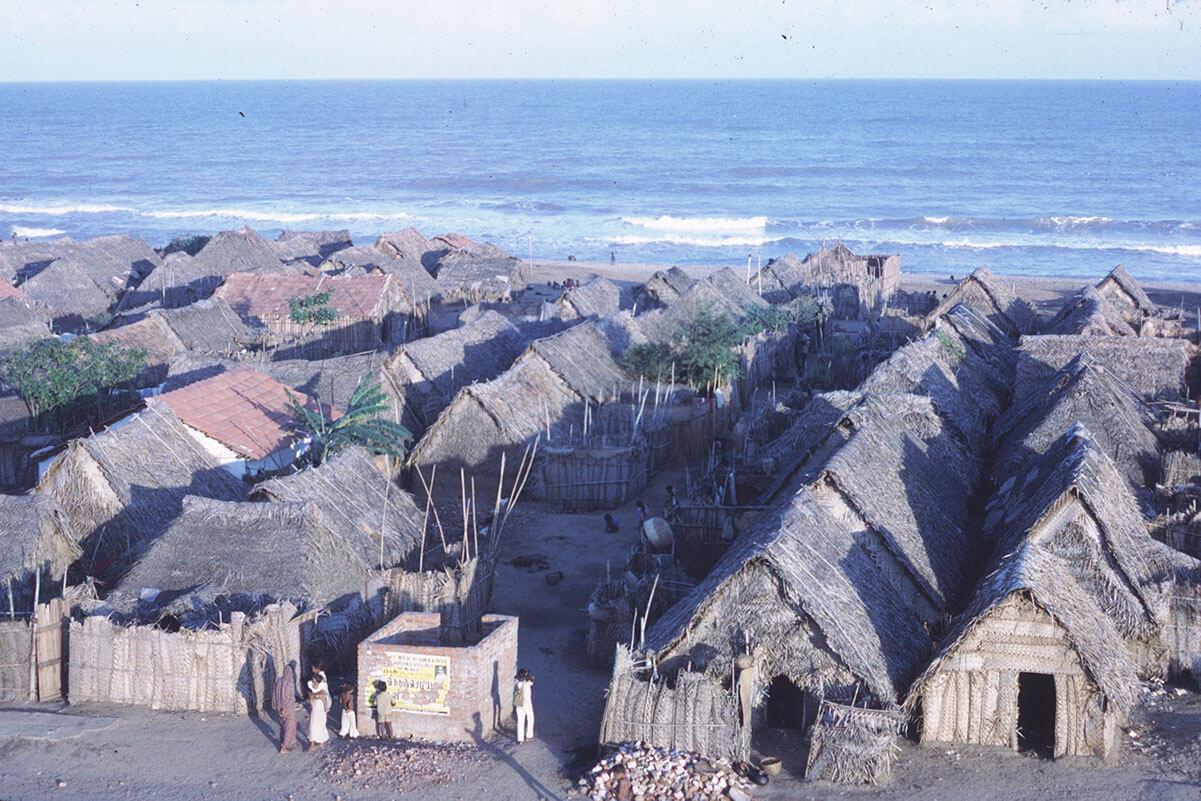 Slumomårdet Cherian Nagar utanför Chennai, Indien. Foto: Björn Therkelson
